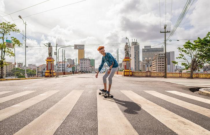 Joven patinador