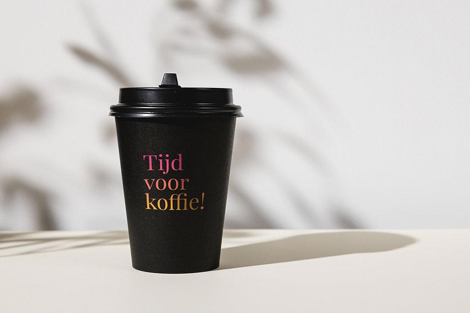Koffiebeker met print