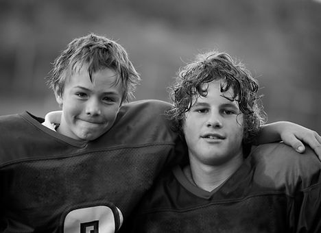 Boys in Football Uniform