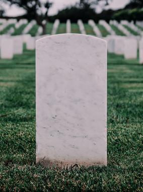 Öldükten Sonraki Konum Adı; Mezar Taşları
