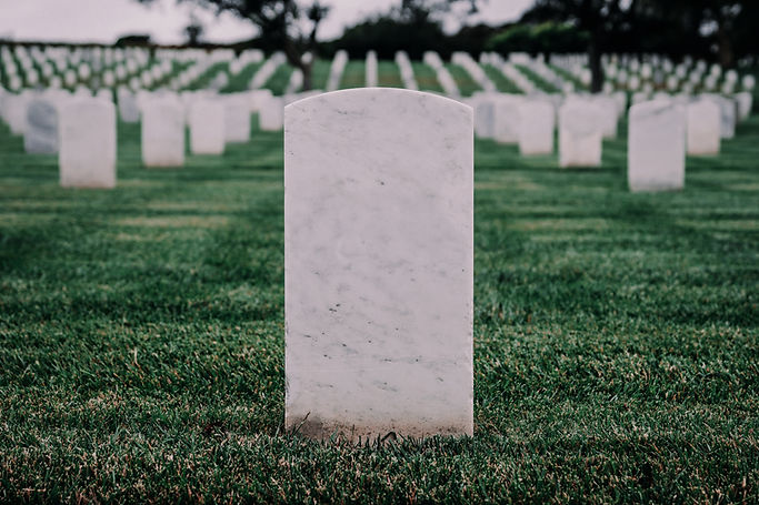 Lápides do cemitério