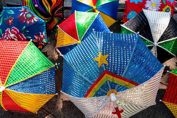 Decorated Umbrellas