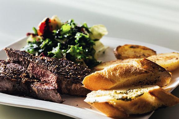 Steak et baguette