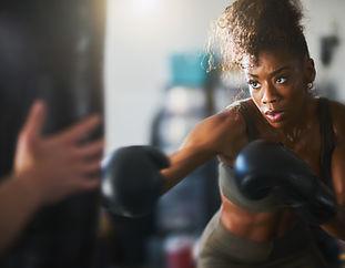 Séance de boxe training