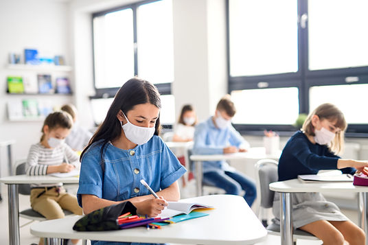 Students in Classroom with masks.
