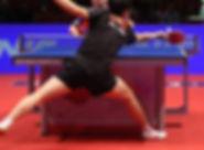 Partida de tênis de mesa