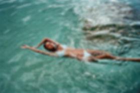 Swimming in Bikini