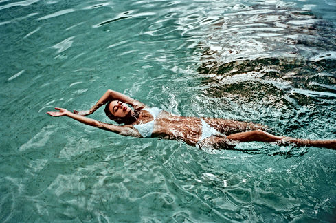 Zwemmen in bikini