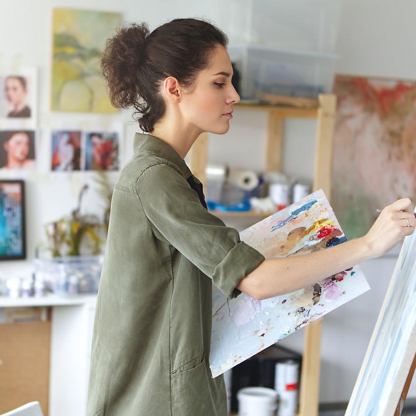 Art Demo With Artist