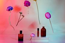 Flores y botellas