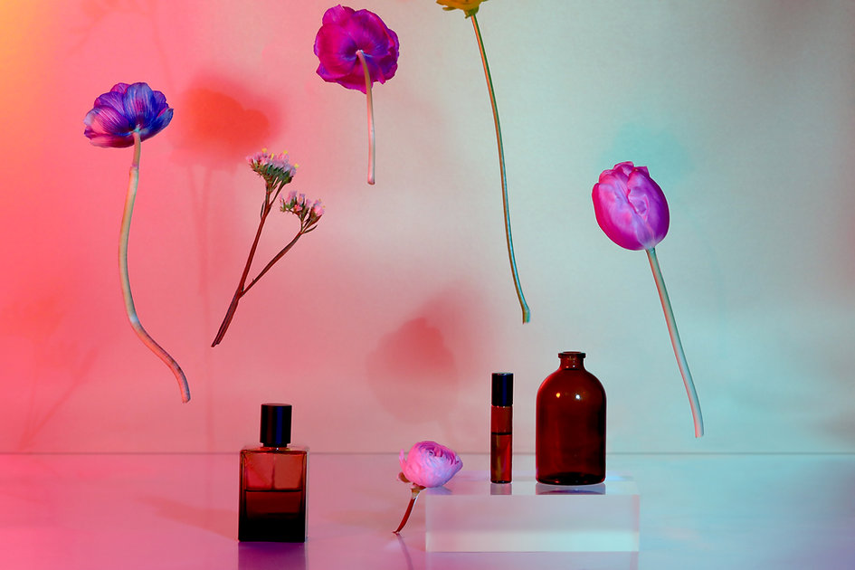 Flowers and Bottles