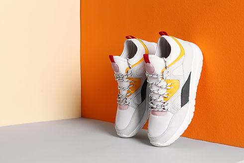 Sapatos em exposição