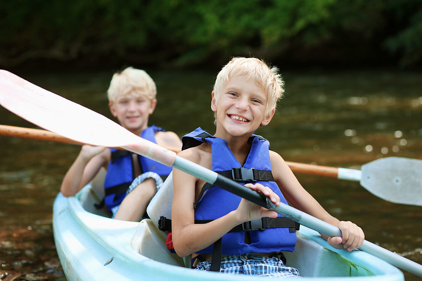 Boys Kayaking