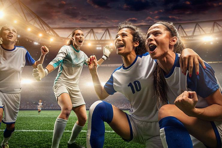 Jogadores de futebol feminino