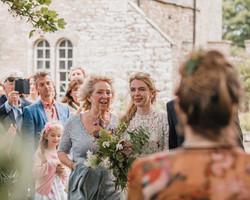 Braut und Familie