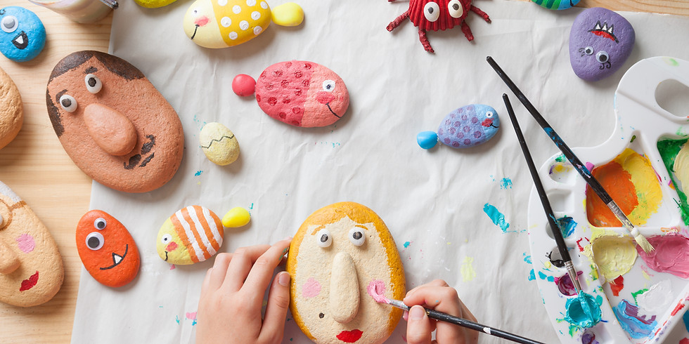 Rock Painting - Live Virtual Class – Registration Required