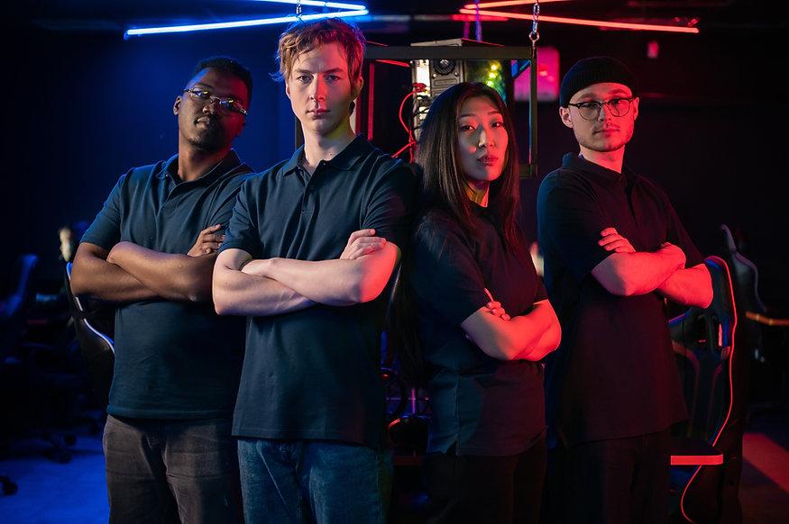 Gaming Team in Black