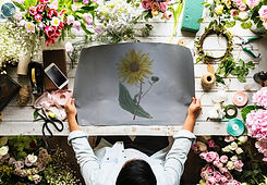 Работа над цветочными композициями