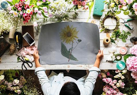 Working on Flower Arrangements
