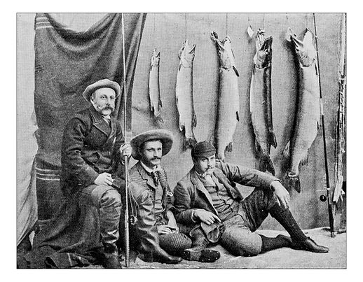 Antique Photograph of Fishermen