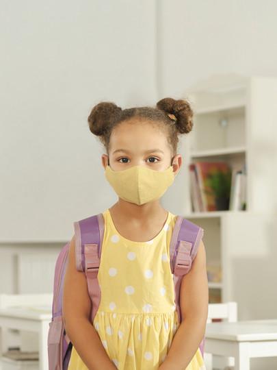 Schoolgirl with Mask