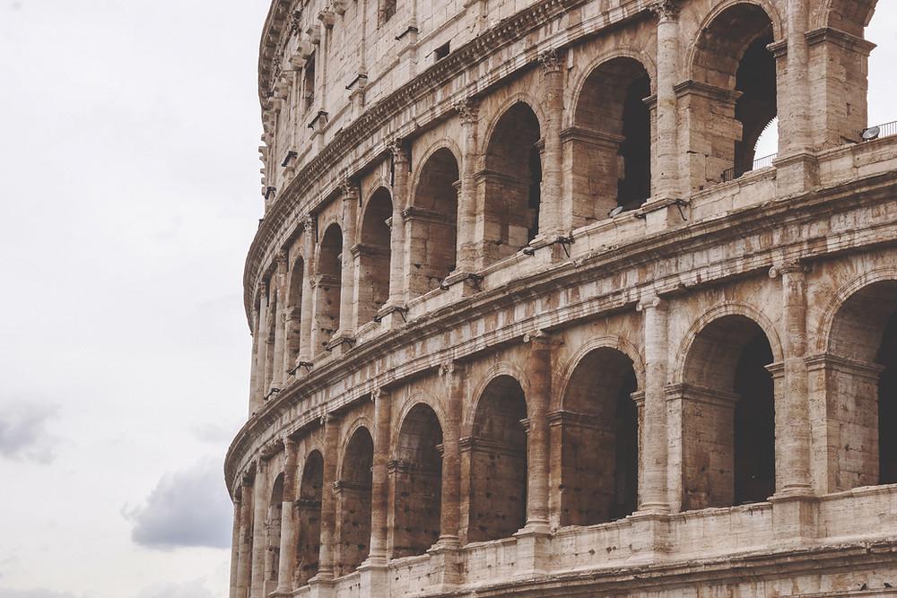 Portion of Rome's Colosseum