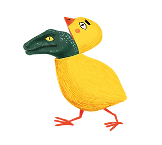 Velociraptor in chick costume easter egg image. Just for fun.