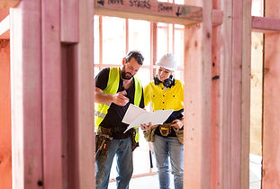 Workers in Building Site
