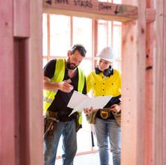 Arbeiter auf der Baustelle