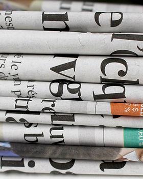 Stapel Zeitungen