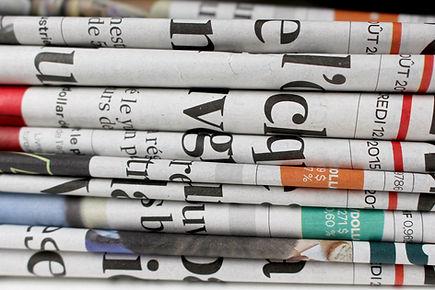 Pilha de jornais