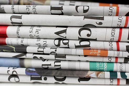 Bunke med aviser