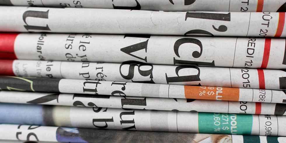 Atelier AIM - B/D : Panier fourre-tout en journal !