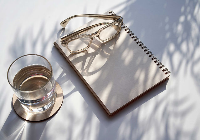 Glasses and Notebook