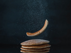 Gluten free pancakes with maple syrup