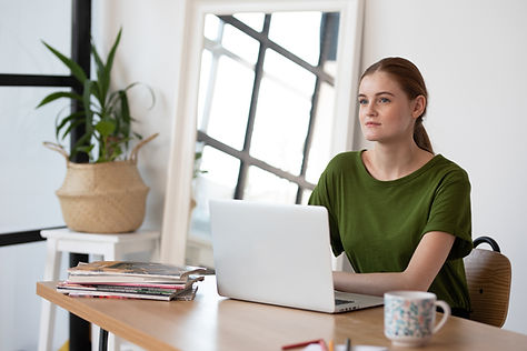 Girl in Modern Workspace