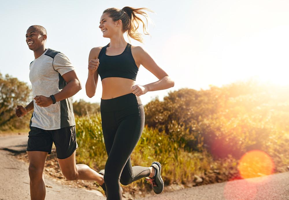 man- woman- running-outdoors