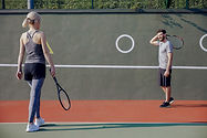 Couple Tennis Players