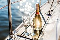 Champaign garrafa e copos