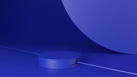 Objetos 3D azuis