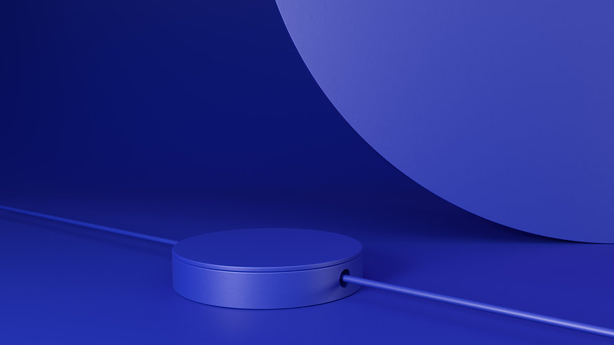 3D Blue Objects