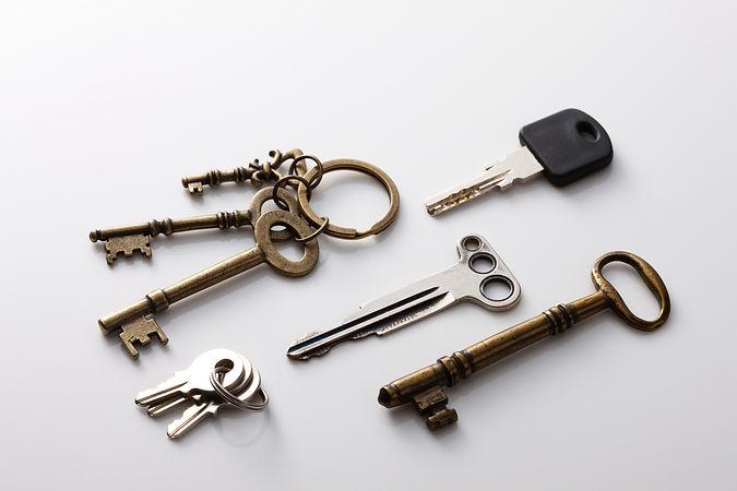 色々な種類の鍵