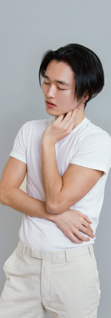 man model in white outfit