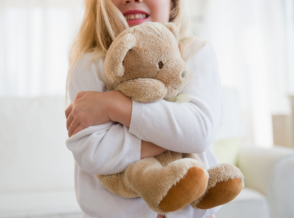 Girl Hugging Tedding Bear
