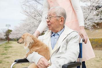 車椅子の男性