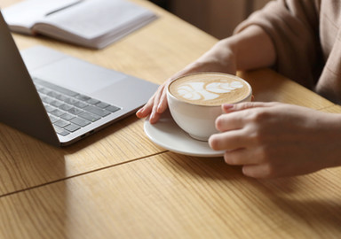 Let's share a cup of coffee online!
