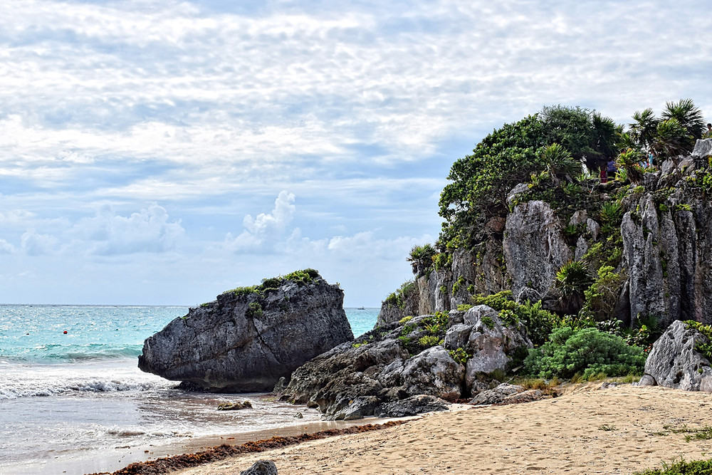 One of the many beaches in Tulum
