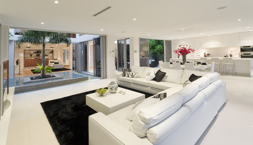 Open Livingroom floor tiling
