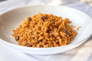Reis und Bohnen