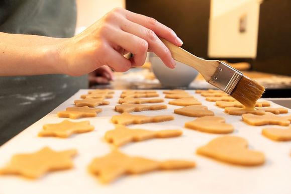 Conféction de biscuits de Noël